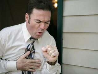 Pneumonoultramicroscopicsilicovolcanoconiosis silicosis man coughing