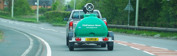 MistCannon Rover Trailer Road Towable Courner