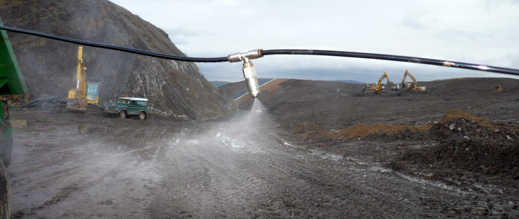 Dust suppression at a quarry