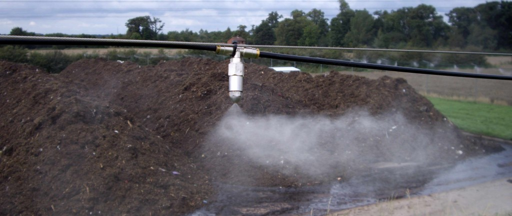 AtomisterHydro at work at a composting pad