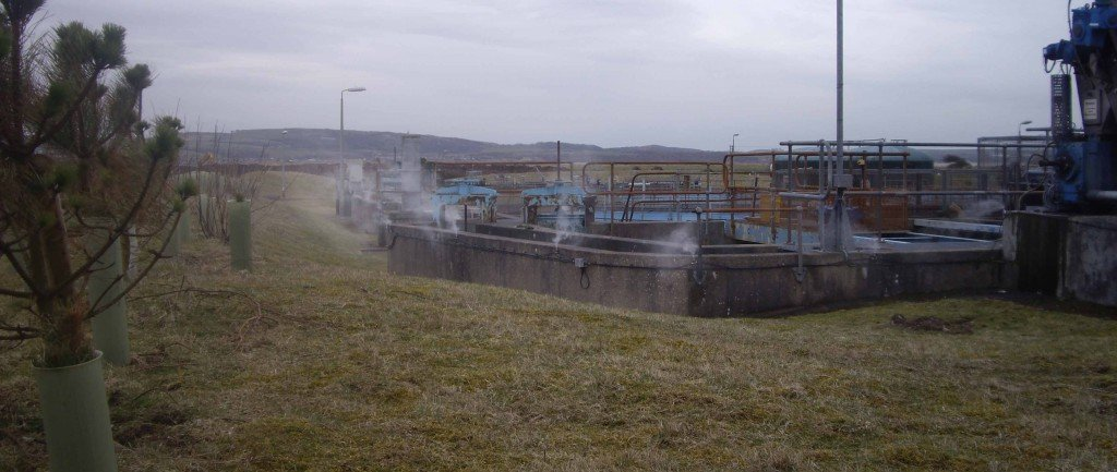 Odour suppression at a wastewater treatment plant