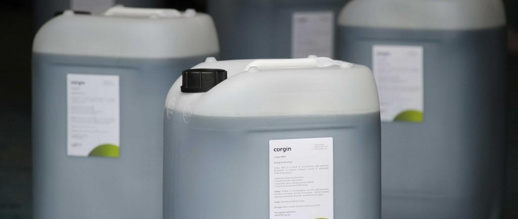 Convenient 25 litre drums ready for despatch