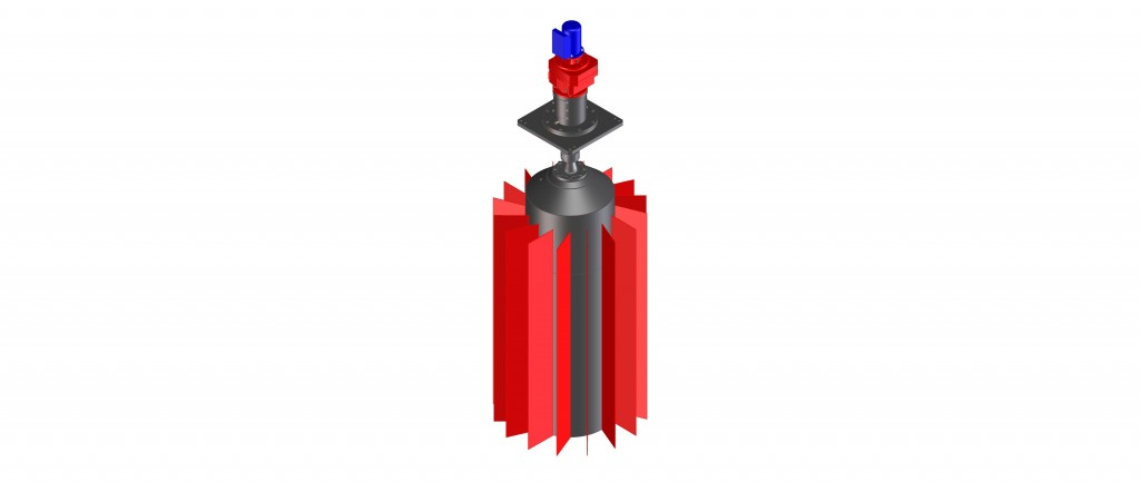 Low-speed 16 vane impeller
