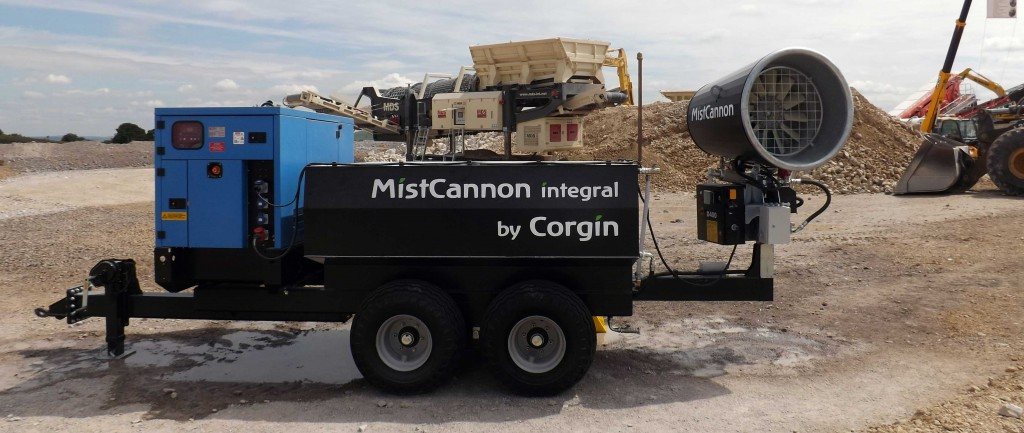 The MistCannon Integral is an all-in-one dust suppression unit