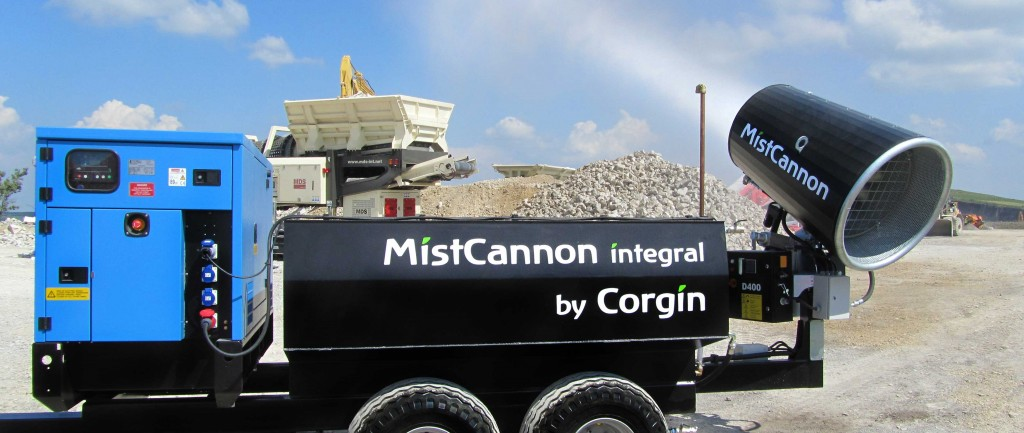 The MistCannon Integral in action with the flow regulator turned on to further conserve water