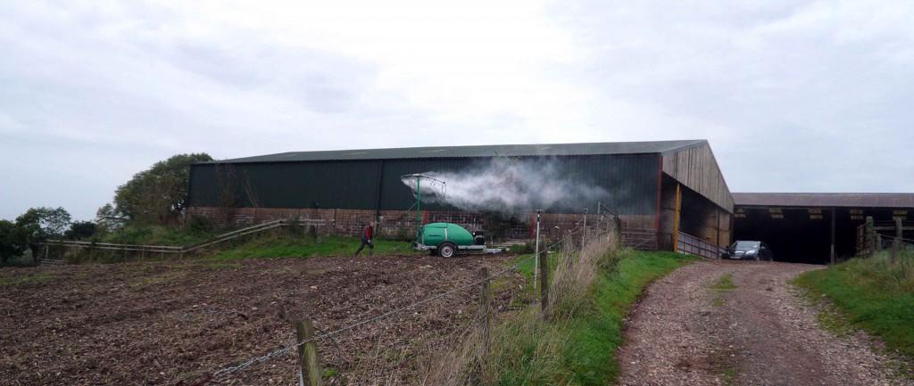 Odour suppression at a farm