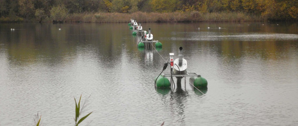 Multiple aerators create strong 'flow linkage' in large lagoons
