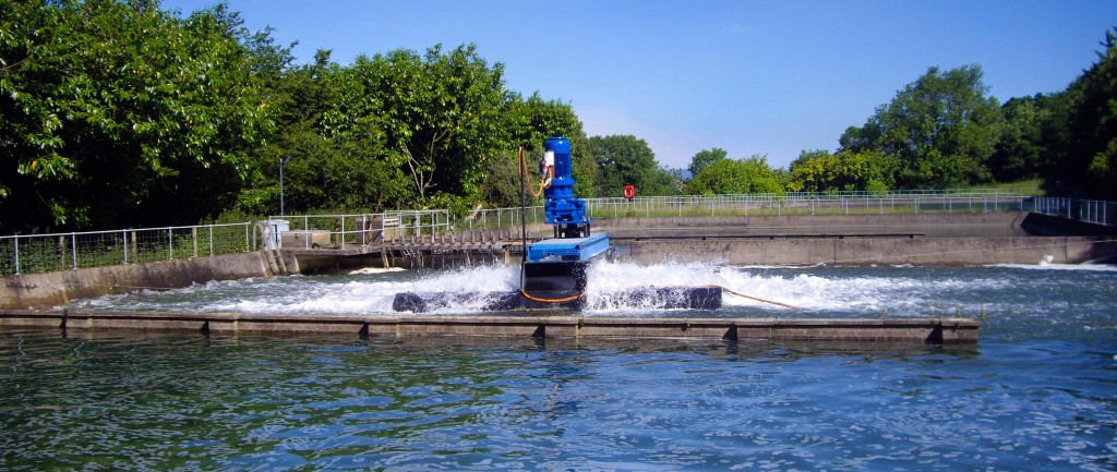 Clean water aeration for contaminant removal