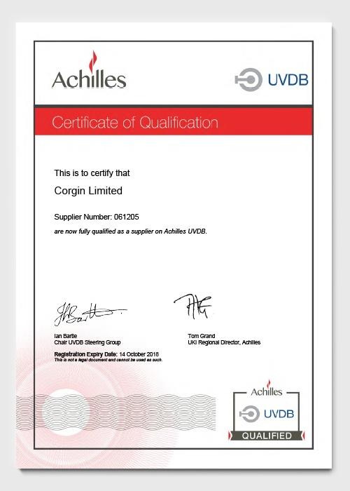 UVDB Verify Achilles Certificate