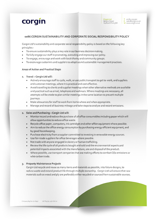 Sustainability And Corporate Social Responsibility Policy